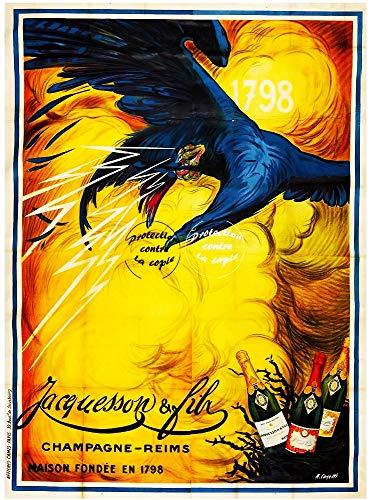 Herbé TM JACQUESSON Champagner R129-Poster/Kunstdruck, 40 x 60 cm * D1, Vintage/Antik/Retro