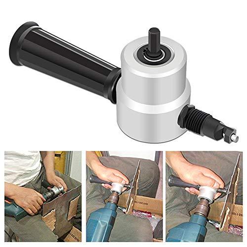 Fesjoy Cortadora de Chapa de Metal Doble Sierra Corte de Hierro Tijeras de perforación eléctricas Conversión de Audio Herramientas eléctricas