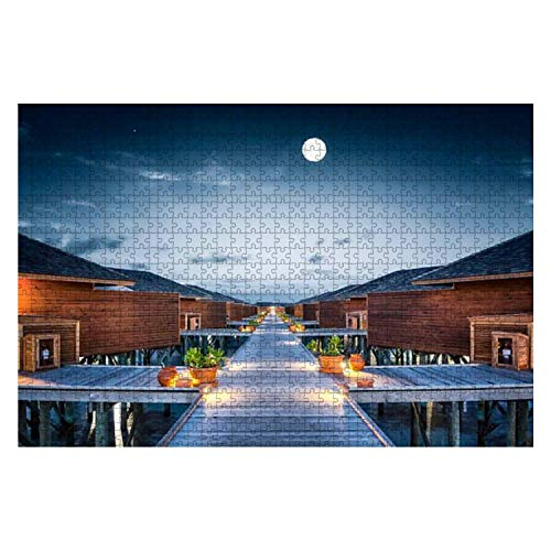 Moonwalk Moon Cabin Stock Pictures Royalty Free Photos Images 1000 Piece Wooden Jigsaw Puzzle DIY Children Educational Puzzles Adult Decompression Gift Creative Games Toys Puzzles Home Decor