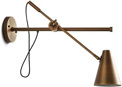 Gorkuor Wandleuchte Retro- industrielle Eisen-Wandlampe kreatives Einzel-Kopf Schlafzimmer-Nachttisch-Studie-Büro-mechanische Rocker-Wand-Lampe E27, dekorative Lampe der hochwertigen Wandlampe by