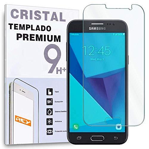 REY Protector de Pantalla para Samsung Galaxy J3 2016, Cristal Vidrio Templado Premium