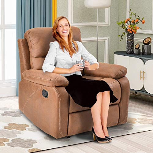Recliner Chairs Overstuffed Heavy Duty Recliner for Living...