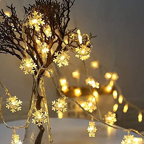 Lecone Catena Luminosa Fiocco di Neve 20 Stelle 3M Batteria Alimentata LED Luci Illuminazione Decorativa Ideale per Albero di Natale, Halloween, Matrimonio, Decorazione della stanza, Party, Giardino