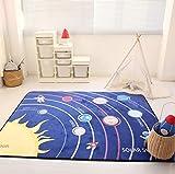 USTIDE Baby Spielmatte Memory-Schaum Bodenteppich Lernteppich Anti-Rutsch-Baby-Matte 152,4 x 182,9 cm, Memory-Foam, Weltall, 5' 0' x 6' 6'