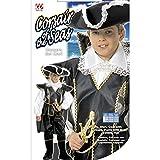 Disfraz de pirata de capitán para niños de 158 cm, 11 a 13 años, disfraz de capitán pirata para niños, disfraz de carnaval, cumpleaños, fiesta de disfraces, corsario