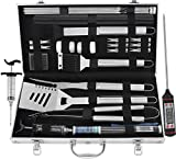 grilljoy 25 pc Accessori Barbecue- Utensili Barbecue in Acciaio...