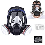 15in1 Full Face Respirator ,Wide Field of View Full Face Lightweight Respirator Painting Spraying Decoration Woodworking Gas Respirator