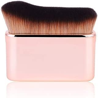 Professional Body Makeup Brush High Density Face Kabuki Brush for Luminizer Lava Liquid Foundation Pressed Powder Cream Shimmer Lotion Contour Concealer (Rose gold)