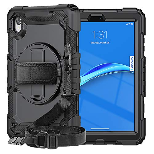 SIBEITU Case for Lenovo Smart Tab M8 with Screen Protector | Case for Lenovo Tab M8 FHD/HD 2020/2019 Full Body Protection Cover for TB-8505F TB-8505X /TB-8705F/TB-8705N/TB-8505FS | Black