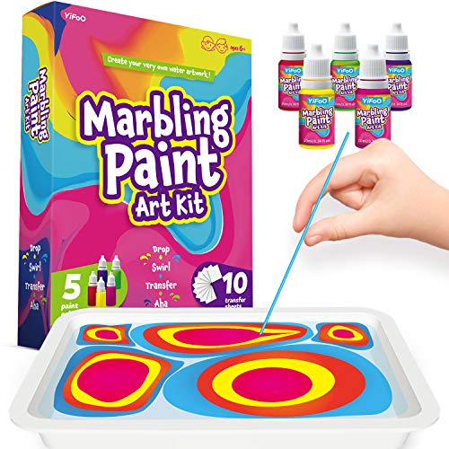 YIFOO Marbling Paint Kit for Kids – Crafts for Kids Ages 4-8, Arts and Crafts...