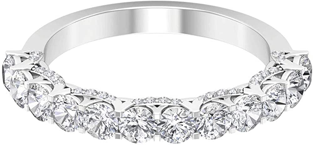 1.51 Ct Diamond Gold Band Detroit Mall Classic Ring Women Selling rankings Partywea Statement