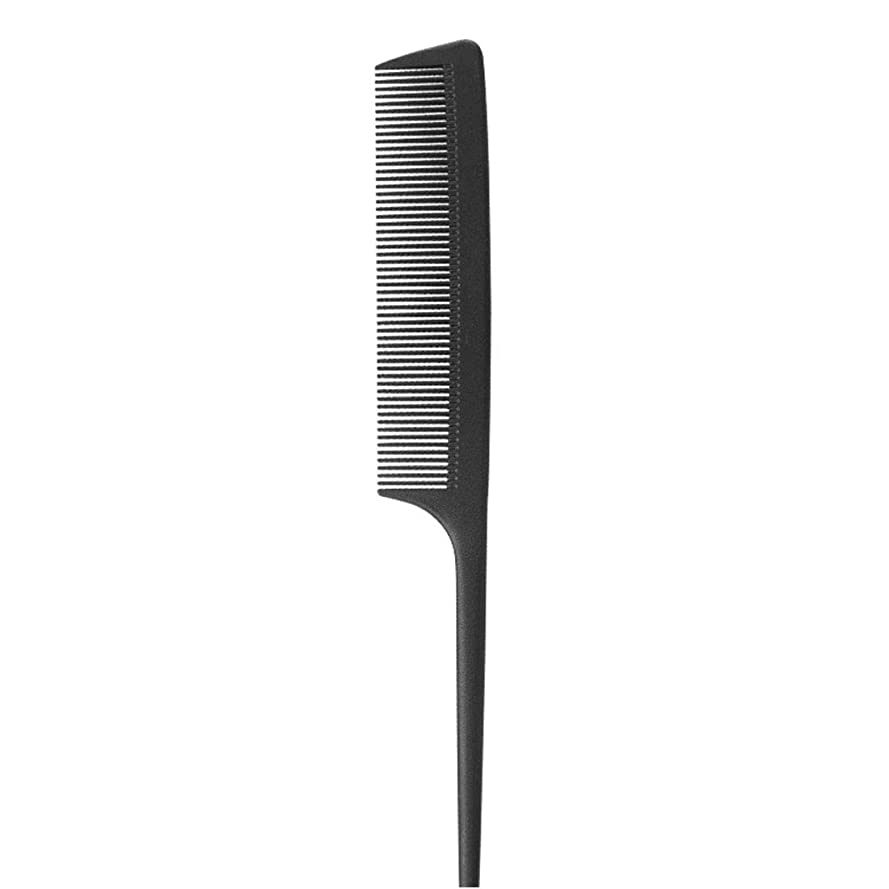 報酬の発行する塊Kpekey ブラックニードルテール櫛帯電防止耐熱美容師の特別な尖った尾の櫛 (色 : 黒)
