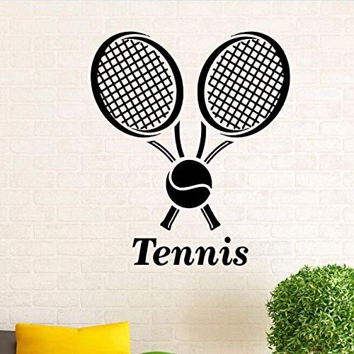Wandaufkleber Tennis Sport Tennisball Wandaufkleber Home Interior Design Kunst Abnehmbare Tennis Tapete Jungen Zimmer Kunst 42 * 49Cm