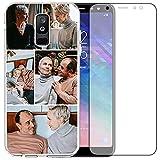 Coque transparente personnalisée pour téléphone compatible avec Samsung A6 Plus 2018 6', coque...