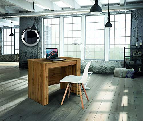 Fashion Commerce FC1653 Consolle, Legno,Metallo, Rovere Nodato, 50 x 90 cm-230 x 90 cm