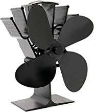 Blesiya Automatical Heat Powered Wood Stove Fan for Log Wood Burner/Fireplace Heater, with 4 Blades, Strong Winds, Quality...