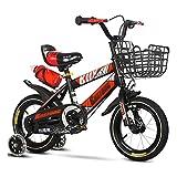LiRuiPengBJ Bicicleta para niños Niños Bicicleta Niños Niñas Bicicleta para Niños Freestyle 12 14 16 18 Pulgadas con Ruedas de Entrenamiento y Botella de Agua Kickstand Edad 2-10