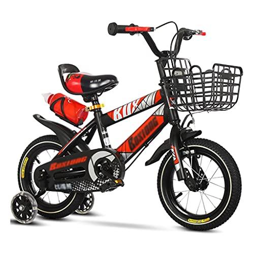 LiRuiPengBJ Bicicleta para niños 12 14 16 18 Pulgadas Niños Bicicleta Niños Niñas, Bicicleta para Niños Freestyle con Ruedas de Entrenamiento y Soporte para Botella de Agua para Edades de 2 A 10 Años