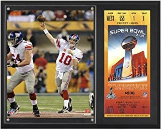 Eli Manning New York Giants Super Bowl XLVI 12x15 Sublimated Plaque with Replica Ticket - NFL Player Plaques and Collages