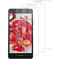 DOSNTO Protector de Pantalla Compatible con Huawei P9 Lite [3-Pack, Cristal Templado [Cristal + Resina] Vidrio Templado con [9H Dureza] [Alta Definicion] [3D Borde Redondo]