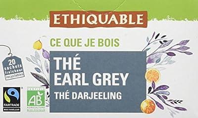 Ethiquable Thé Earl Grey Darjeeling Bio et Équitable 20 Sachets Max Havelaar parent