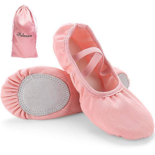 Palazen Ballettschuhe für Mädchen Damen Ballettschläppchen Geteilte Ledersohle Kinder und Erwachsene Ballerinas Tanzschuhe