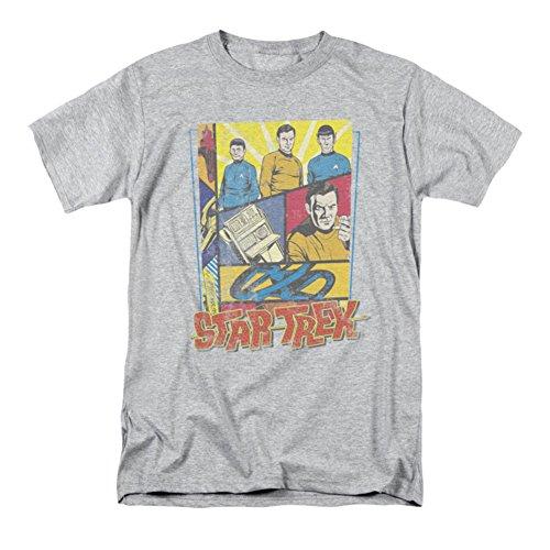 T-shirt Star Trek Vintage Collage Original Série M Athletic Heather