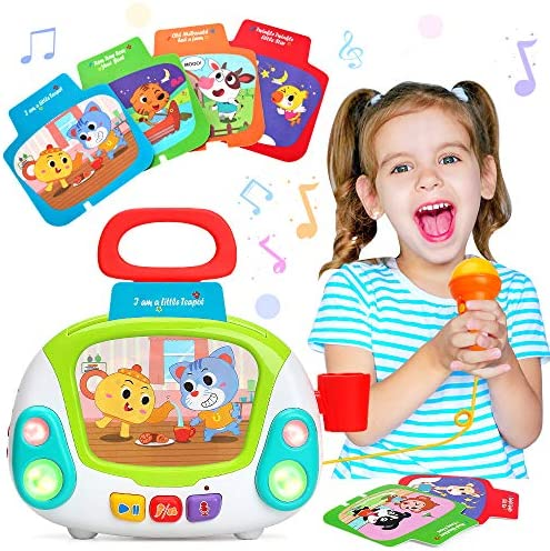 LUKAT Musical Toy for Toddlers Kids Music Karaoke Machine with Microphone Early Educational product image