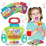 LUKAT Juguete Musical para Niños y Niñas de 2 3 4 Años, Micrófono de Karaoke Reproductor de...