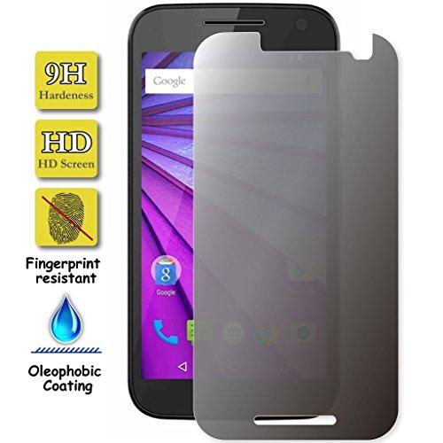 Granadatech Protector de Pantalla Cristal Templado para Motorola Moto G3 Privacidad - Anti Espia, Visión Oculta I Calidad HD, Grosor 0,3mm, Resistencia 9H - Sin Burbujas