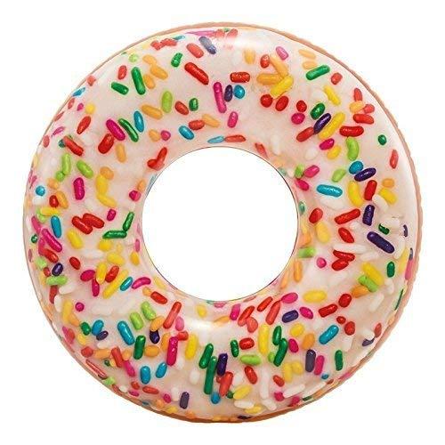 Lively Moments Schwimmring / Schwimmreifen Donut mit bunten Streuseln / Streuselmuster ca. 114 cm