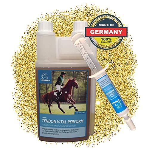 EMMA® MSM Paard I SPARSET I Gewrichten, Ligamenten & Pezen I Glucosamine, Chondroïtine & Collageen I 1 Wilgenschors Booster 30 ml plus 1 L