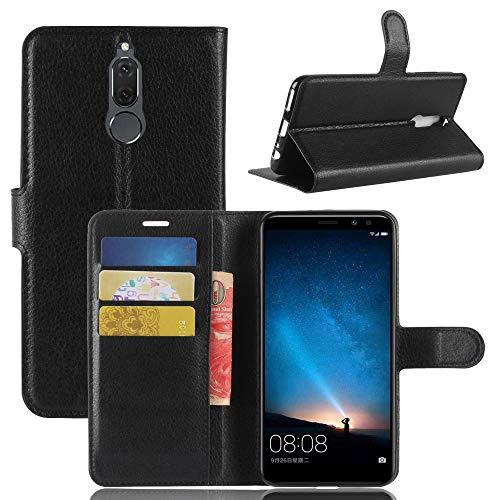 betterfon   Buch Tasche Hülle Etui Book Hülle Cover Schutz Hülle Handy Tasche für Huawei Mate 10 Lite Schwarz