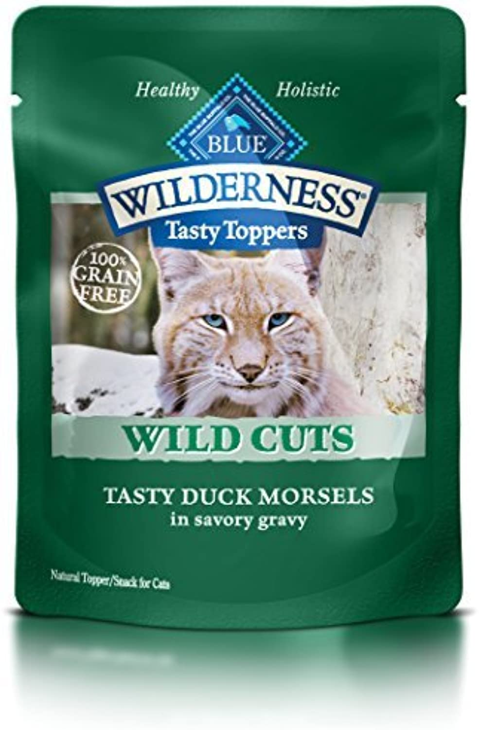 bluee Buffalo Wild Cuts Tasty Toppers Tasty Duck Morsels Savory Gravy Wet Cat Food, 3 oz Can, Pack of 24 by blueE WILDERNESS