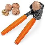 ChromLives Nussknacker Walnussknacker Hochleistungs Nussknacker Werkzeug mit Holzgriff für Walnüsse Pekannüsse Filberts Mandeln Paranüsse Erdnüsse und mehr