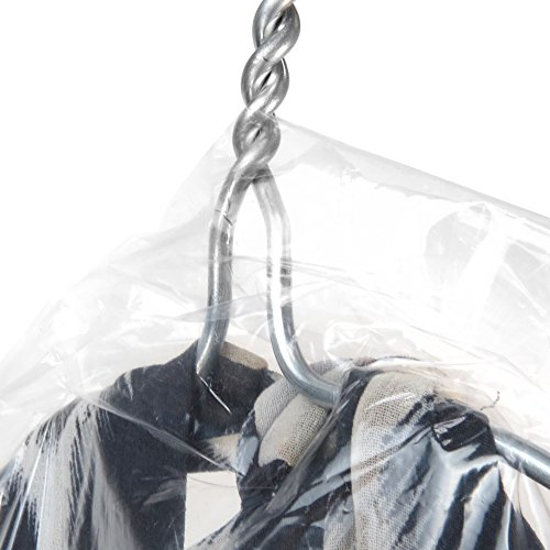 HANGERWORLD 20 Clear 72inch 80 Gauge Dry Cleaning Laundrette Polythylene Garment Clothes Cover Protector Bags.