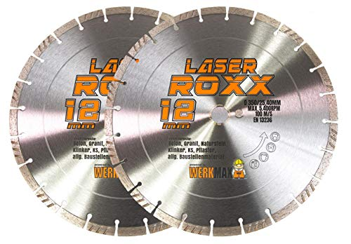 2er-SET | Neuentwicklung: Laser ROXX Diamantscheibe 350 x 25,4 mm | universal