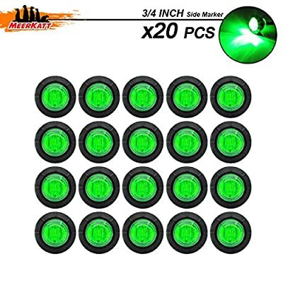 Meerkatt (Pack of 20) Mini Round 3/4 inch 3 LED Side Marker Light