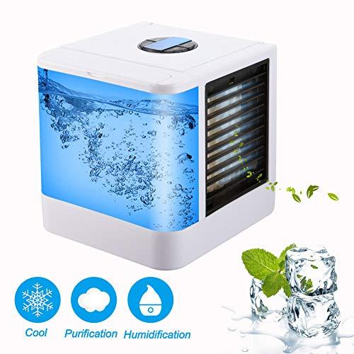 Tragbare Hausklimaanlage Sommer multifunktionale Mini-Klimaanlage Lüfter Luftbefeuchter Büro Luftkühler 7 Farben
