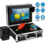 Anysun Underwater Fishing Camera,Ice Fishing Camera Portable Video Fish Finder Camera with 9' Screen and 12pcs Adjustable Led Lights Underwater Camera for Ice Sea Boat Fishing (30M+8GB Micro-SD Card)