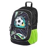 Baagl Schulrucksack für Jungen - Schulranzen für Kinder mit ergonomisch geformter Rücken, Brustgurt und reflektierende Elemente (Fußball)