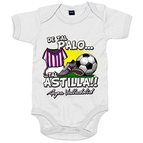 Body bebé De tal palo tal astilla Valladolid fútbol - Blanco, 6-12 meses