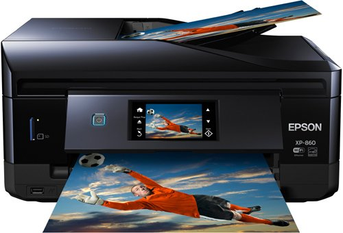 Epson Expression Photo XP-860 Wireless Color Photo Printer with Scanner and Copier, Amazon Dash Replenishment Ready