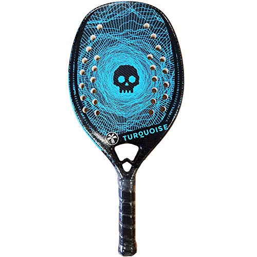 Turquoise Beach Tennis Racket Black Death Challenge 2020 (blau)