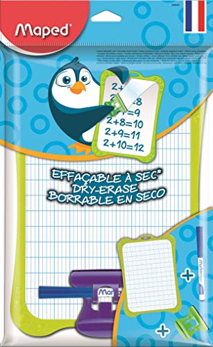 Maped Dry Wipe Whiteboard with Accessories Holder + Pen