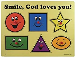 """Smile Gods Loves You"" - Wooden Puzzle"
