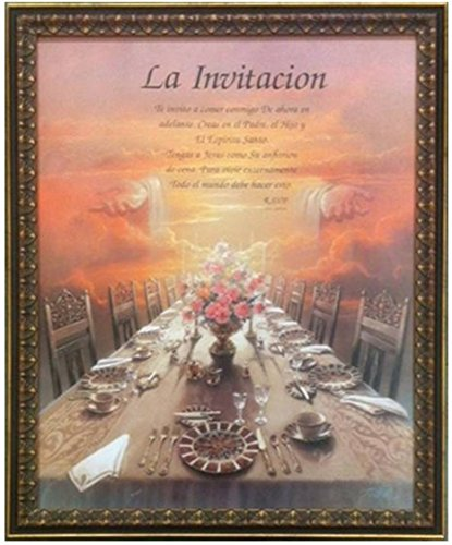 Invitation (in Spanish) La Invitacion Poem Poema by T.C. Chiu Professionally Framed (18x22 Inch)