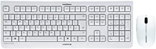 CHERRY DW 3000 – Wireless Tastatur+Maus – 4 Zusatztasten – deutsches Layout – QWERTZ Tastatur – GS-Zulassung – Weiß, JD-07...