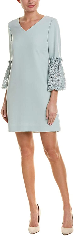Tahari By ASL Womens Lace Sleeve Shift Dress