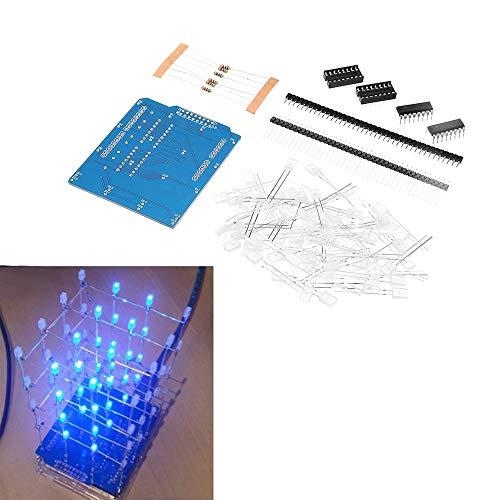 ILS LED Cube blau 4X4 Set 3D LED DIY Kit Arduino DIY Kit
